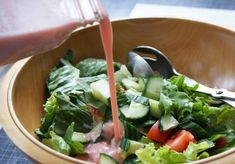 Rhubarb Vinaigrette - Dinner With Julie Summer Recipes, New Recipes, Crockpot Recipes, Cooking Recipes, Special Recipes, Salad Dressing Recipes, Salad Recipes, Salad Dressings, Vinaigrette Dressing