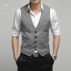 vest girl Picture - More Detailed Picture about High Quality Men's Suit Vest, Wedding Waistcoat Vest, Casual Colors & 6 Size Picture in Apparel & Accessories from Guangzhou Garment Process Co. Mens Casual Wedding Attire, Mens Attire, Men Casual, Casual Groomsmen Attire, Groomsmen Tuxedos, Casual Suit, Smart Casual, Casual Wear, Wedding Men