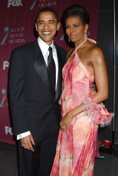 President Obama and First Lady Michelle. Beautiful couple.