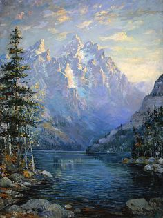The Grand Tetons And Jenny Lake by Lewis A. Ramsey (1873 - 1941)