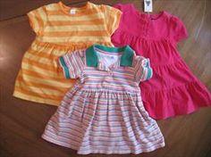 Toddler Girls Summer Dresses Lot of 3 C. Place, Lands End, Baby Gap     Price: $15.00
