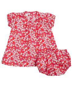 Fuchsia Mitsi Print Ruby Dress and Knickers Set - Liberty of London childrenswear collection