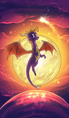 Spyro character, fan art -- Fireworks Factory by Tuooneo on deviantART