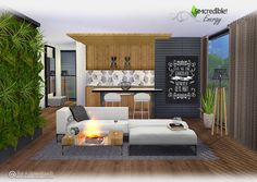 Sims 4 CC's - The Best: Energy Living Room Set by Simcredible Designs