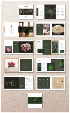 Square Natural Portfolio A beautiful multipurpose Portfolio/Magazine. Clean, professional, modern and fully customisable InDesign template. It is for designers Booklet Layout, Booklet Design, Brochure Layout, Corporate Brochure, Brochure Template, Page Layout Design, Magazine Layout Design, Magazine Layouts, Design Design