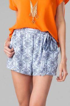 Santa Lucia Printed Shorts