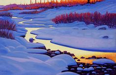 'Winter Light - Smithers BC' x Oil on Canvas by Artist Nicholas Bott Canadian Painters, Canadian Artists, American Artists, Canadian Things, Contemporary Landscape, Landscape Art, Landscape Paintings, Watercolor Landscape, Contemporary Artists