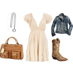 A little bit country! Super cute! I can totally recreate this outfit!