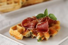 waffles with prosciutto