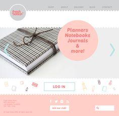 fresh notes website design