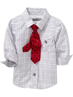 Patterned Shirt & Tie Sets for Baby | Old Navy