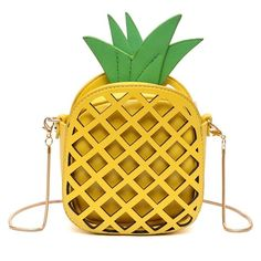 Amazon.com: Interesting Finds (£13) ❤ liked on Polyvore featuring shoulder handbags, pineapple purse, yellow crossbody, crossbody shoulder bag and purse crossbody
