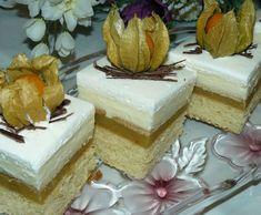 Jablkové rezy so šľahačkou Vanilla Cake, Desserts, Food, Deserts, Dessert, Meals, Yemek, Postres, Eten