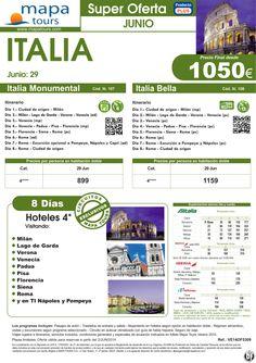 OF Italia salida 29 Junio **Precio Final desde 1050** ultimo minuto - http://zocotours.com/of-italia-salida-29-junio-precio-final-desde-1050-ultimo-minuto/