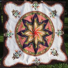 Paradise in Blooms, Quiltworx.com, Made by Kathy Caulfield, Taught by CI Andrea Schnur