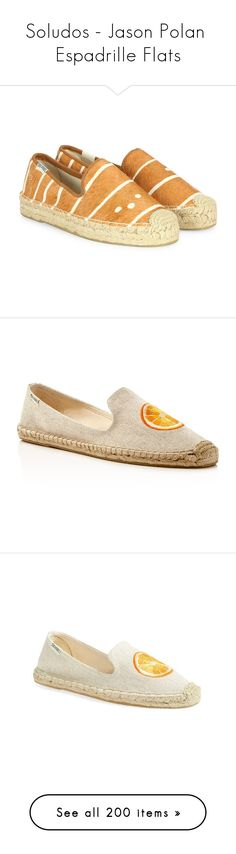 """""""Soludos - Jason Polan  Espadrille Flats"""" by lynnspinterest ❤ liked on Polyvore featuring shoes, flats, apparel & accessories, slip on shoes, espadrilles shoes, slip on flats, flat pumps, platform shoes, slippers and sand"""
