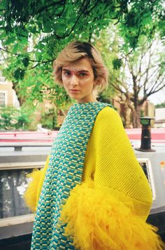 Sun Choi #yellow #fashion #knitwear
