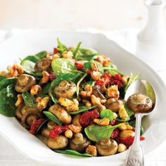 Roasted+Mushrooms,+Tomato+&+Cashew+Salad