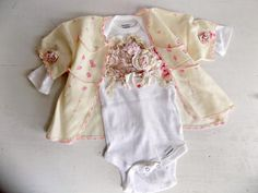 Shabby Chic Baby Clothes. Parisian Baby Girl Onesie Set. Boho Chic Lace Onesie Outfit. Glam Baby Custom Made Onesie. Vintage Newborn Gift