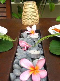 Un centre de table Zen, pour un mariage plage... ...