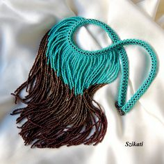 Turquoise-bronze-chocolate necklace  Love this!!