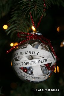 As you know from my wedding date art post, my brother got married this summer so I was hoping to create him a First Christmas ornament. Afte...