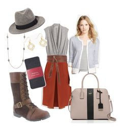 """Mandra Greets the Fall"" by bearpawstyle on Polyvore featuring H&M, Bearpaw, Halogen and Merona"