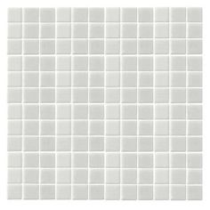 Oceanz O-White-1720 Mosiac Recycled Glass Anti Slip Mesh Mounted Floor & Wall Tile - 4 in. x 4 in. Tile Sample-O-WHITE SAMPLE at The Home Depot