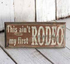 Reclaimed painted and distressed wood sign  by MannMadeDesigns4, $15.00
