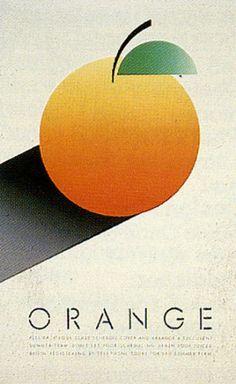Artist: McRay Magleby. Orange. Fruit Series Registration Posters. Brigham Young University Graphics, Provo, Utah, 1986.
