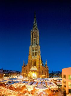 It is the tallest church in the world. Ulmer Münster is a Lutheran church located in Ulm, Germany.