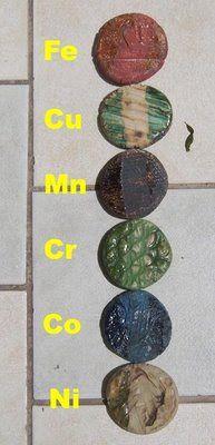 El barro y yo: ► Los óxidos Ceramic Pottery, Ceramic Art, Ceramic Techniques, Decoration, Earthy, Tiles, Decorative Plates, Clay, Crafts