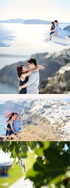 Chen Vivier honeymoon in Santorini by Giota Zoumpou PhotostudioGT Chen, Santorini, Photo Sessions, Golf Courses, Santorini Caldera