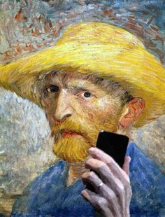 Famous Paintings Snapping Selfies
