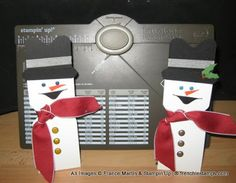 Stamp & Scrap with Frenchie: Envelope Punch Board for Snowman Candy Holder