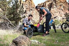 The Coho XC single wheel cargo trailer brings durability and thoughtful design to gear-hauling for bike camping, touring and singletrack riding. Bike Cargo Trailer, Cargo Trailers, Touring, Make It Simple, Baby Strollers, Bicycle, Design, Easy, Baby Prams