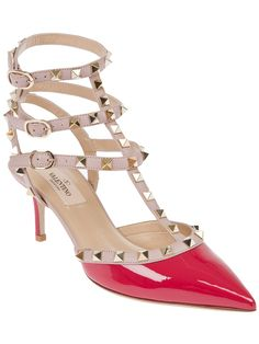 Valentino 'Rockstud' ankle strap pump