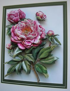 Paper tole superstore for arts, decoupage, and paper tole crafts. Flower Mural, Flower Art, Flower Crafts, 3d Paper Art, Paper Crafts, Ceramic Tile Crafts, Band Kunst, Clay Wall Art, Plaster Art