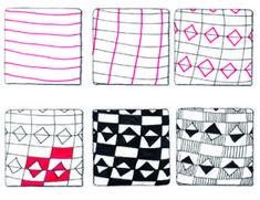 #Zentangle Pattern: Seminole Patchwork by Suzanne McNeill