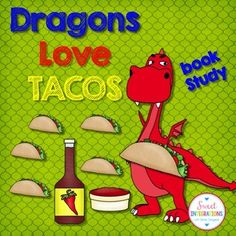 """Did you know that DRAGONS LOVE TACOS? These activities go along with the precious book """"Dragons Love Tacos"""" by Adam Rubin. In this unit:Writing activity  Why Do Dragons Love Tacos?Taco Graphic Organizer  Steps in making a tacoWriting activity  How to Make a TacoWriting activity  I Like Parties BecauseWhy Do Dragons Hate Spicy Salsa?Why Do Dragons Like Parties?Write sentences using adjectives.Comprehension questionsMake sure to look at my other Adam Rubin product """"The Secret Pizza Party.""""…"""