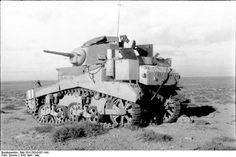 Abandoned Honey tank at the battle of El Alamein.