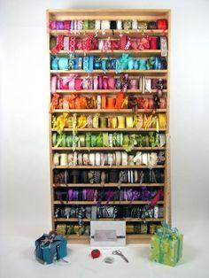 #papercraft #crafting supply #organization.   Dream ribbon rack~!