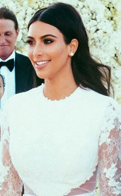 Kim Kardashian's Wedding Day Lip Color | Loren's World #weddingmakeup #weddinglipcolors