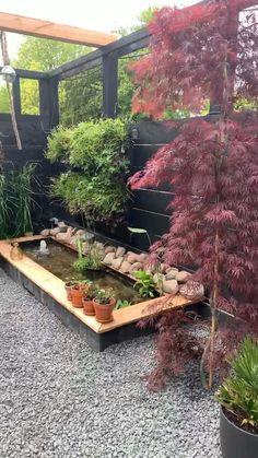 Small Backyard Gardens, Small Backyard Landscaping, Indoor Garden, Yoga Garden, Garden Bed, Small Gardens, Backyard Plan, Backyard Patio Designs, Modern Backyard Design