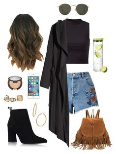 """Hanging out w/ boyfriend"" by erikaalejandraxo ❤ liked on Polyvore featuring Miss Selfridge, Stuart Weitzman, H&M, Becca, Ray-Ban, blomus and Bony Levy"