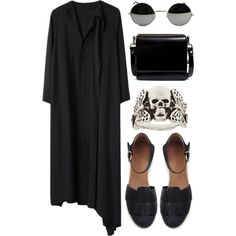 """Black #49"" by nazsefik on Polyvore"