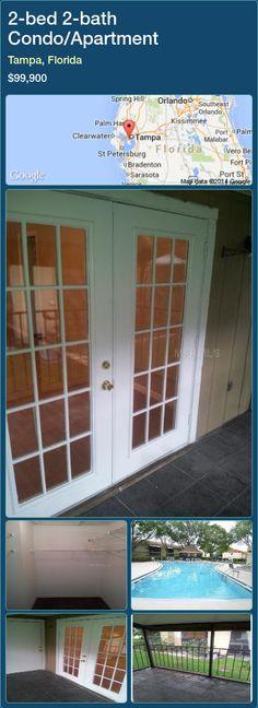 2-bed 2-bath Condo/Apartment in Tampa, Florida ►$99,900 #PropertyForSaleFlorida http://florida-magic.com/properties/25326-condo-apartment-for-sale-in-tampa-florida-with-2-bedroom-2-bathroom