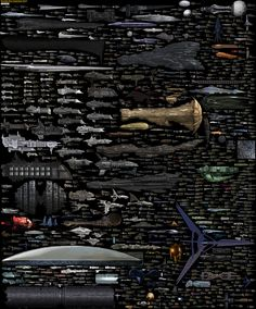 Size Comparison - Science Fiction spaceships by DirkLoechel.deviantart.com on @deviantART