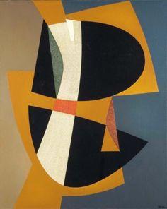 JEAN RETS (1910-1998) Balka, composition géométrique, 1965 Huile sur toi
