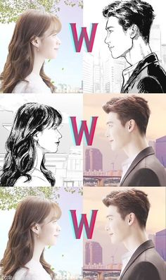 Lee Jong Seok and Han Hyo Joo are Illustrated and Three Dimensional Characters Meeting in W: Two Worlds Han Hyo Joo Lee Jong Suk, Lee Jong Suk Cute, Jung Suk, Lee Jung, W Two Worlds Wallpaper, Wallpaper W, World Wallpaper, Itazura Na Kiss, W Two Worlds Art